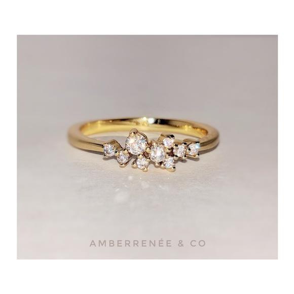 AmberRenée & Co Jewelry - 14k Diamond Cluster Ring Luxe Bijoux